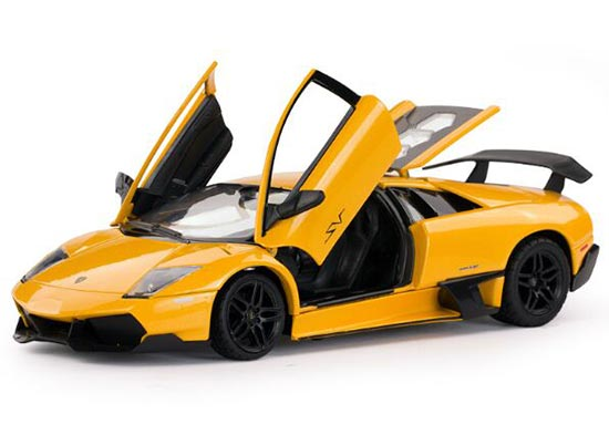 Yellow / Orange 1:24 Diecast Lamborghini Murcielago SV Model