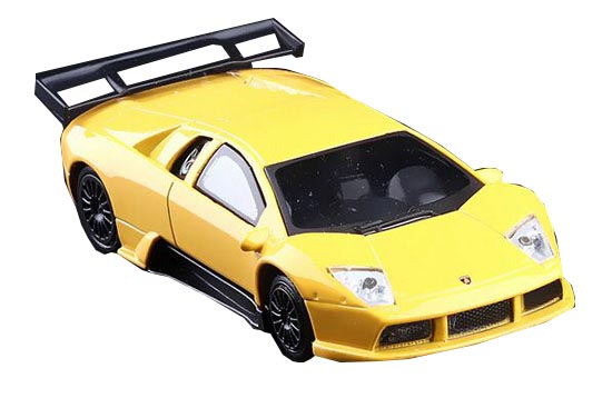 Yellow 1:43 Kids Die-Cast Lamborghini Murcielago R-GT Toy