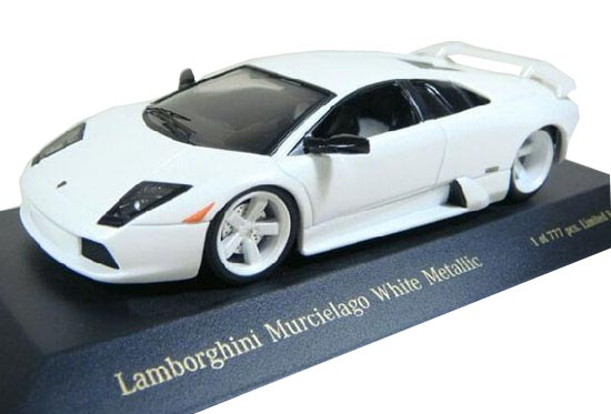 1:43 Scale White Die-Cast Lamborghini Murcielago Model