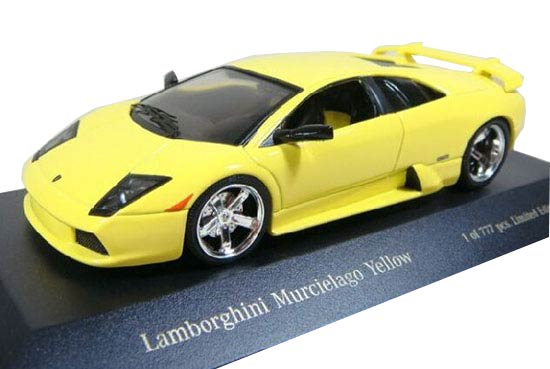 Yellow 1:43 Scale Die-Cast Lamborghini Murcielago Model