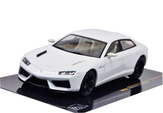 White 1:43 IXO Die-Cast Lamborghini ESTOQUE 200 Model