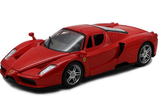 Red 1:24 Scale Bburago Die-Cast Ferrari Enzo Model