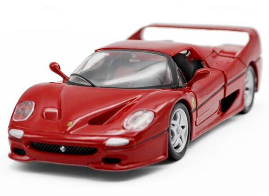 Red / Yellow 1:24 Scale Bburago Die-Cast Ferrari F50 Model
