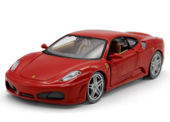 Red / Yellow 1:24 Scale Bburago Die-Cast Ferrari F430 Model