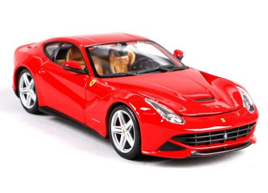 Red / Yellow 1:24 Bburago Die-Cast Ferrari F12 Berlinetta Model
