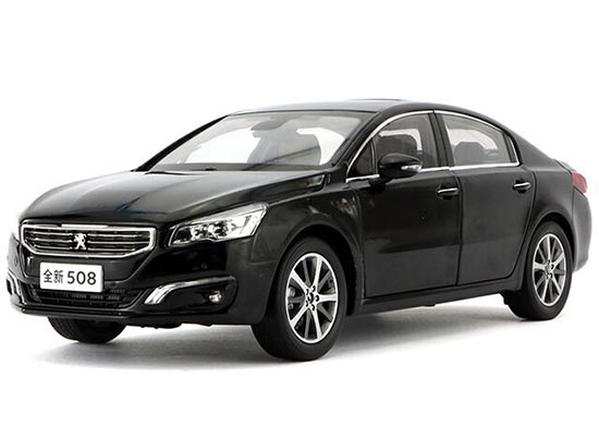 1:18 Scale Black / White Diecast Peugeot 508 Model