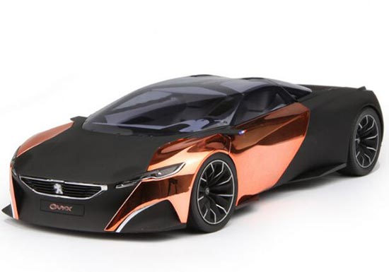 Black-Golden 1:18 Scale Diecast Peugeot Concept ONYX Model