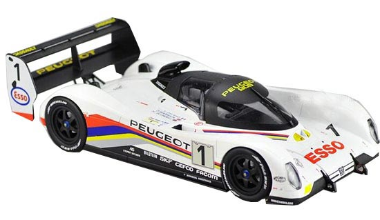 White 1:18 Scale NOREV Diecast Peugeot 905 Model