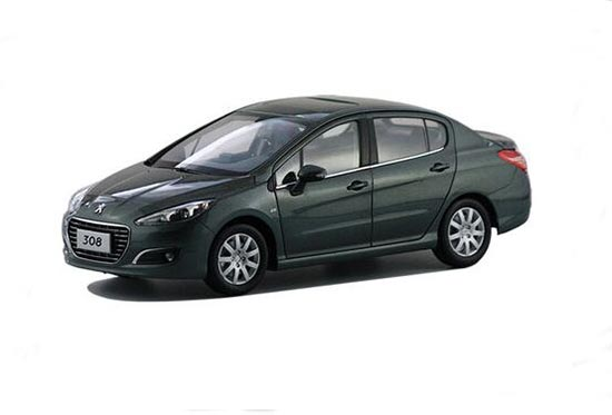 Silver / Red / White 1:18 Scale Die-Cast Peugeot 308 Model