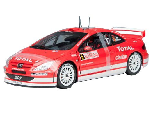 Red 1:18 Scale Solido WRC Diecast Peugeot 307 Model