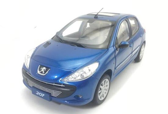 Red / Silver 1:18 Scale Diecast Peugeot 207 Model