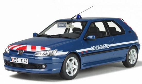 Blue 1:18 Scale OTTO Diecast Peugeot 306 Model