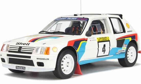 White 1:18 Scale OTTO Diecast Peugeot 205 Model