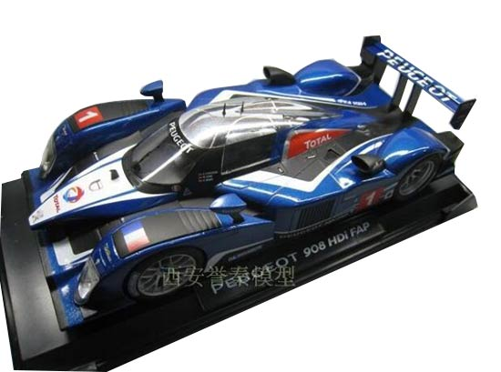 Blue 1:18 Scale Norev Diecast Peugeot 908 HDi FAP Model