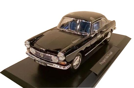 Black 1:18 Scale NOREV Diecast Peugeot 404 Coupe Model
