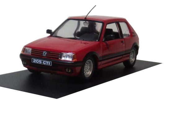 Red 1:43 Scale Die-Cast 1984 Peugeot 205 GTI 1.6 Model