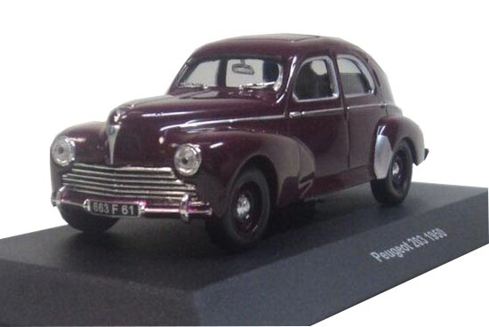 Brown 1:43 Scale Solido Diecast Peugeot 203 1950 Model