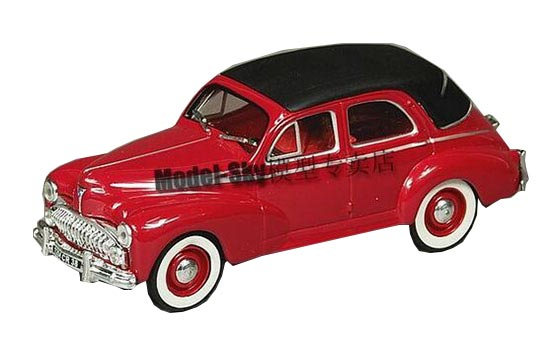 Red 1:43 Scale Norev Diecast Peugeot 203 Model