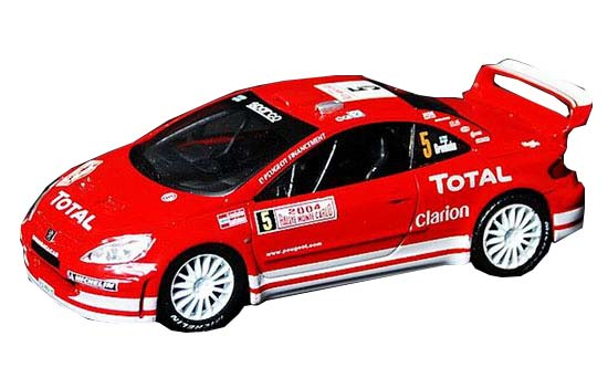 Red IXO 1:43 Scale Diecast Peugeot 307 WRC Model