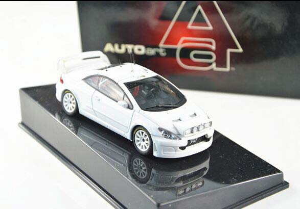 1:43 White / Red AUTOART Diecast Peugeot 307 WRC Model