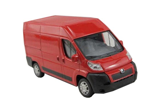 Red 1:43 Scale Diecast Peugeot EXPERT Model