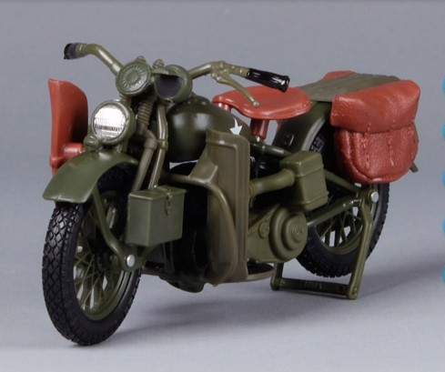 Army Green 1:18 Harley Davidson 1942 WLA FLAT HEAD Model