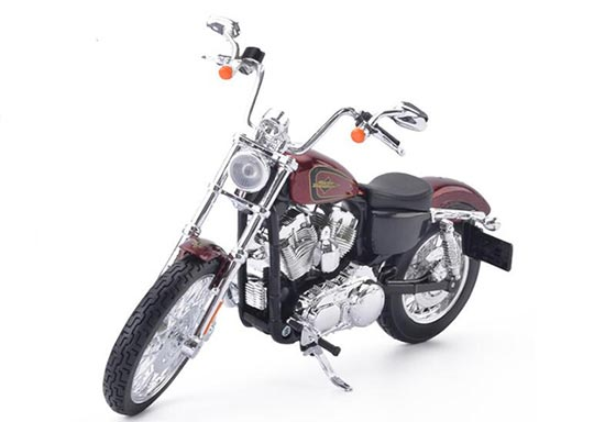 Red 1:12 Diecast Harley Davidson XL 1200V SEVENTY-TWO Model
