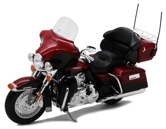 Red-Black 1:12 FLHTK ELECTRA GLIDE ULTRA LIMITED Model