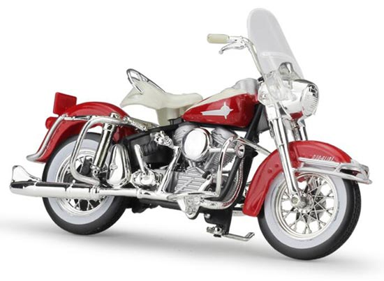 1:18 Scale Red Die-Cast Harley Davidson 1962 FLH DUO GLIDE