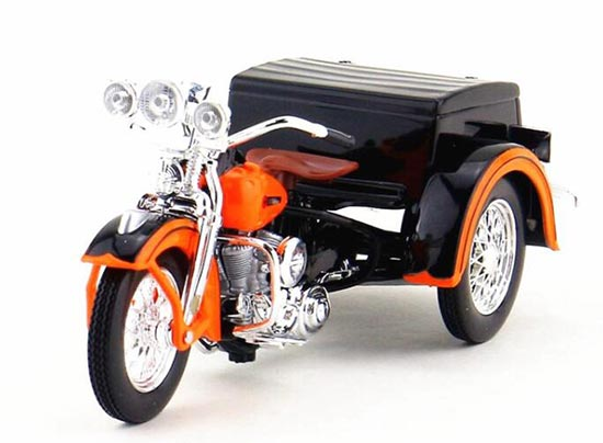 Orange / Black 1:18 Scale Diecast Harley Davidson Model