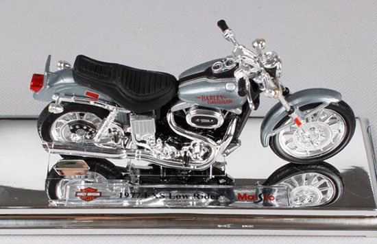1:18 Gray Diecast Harley Davidson 1977 FXS Low Rider Model