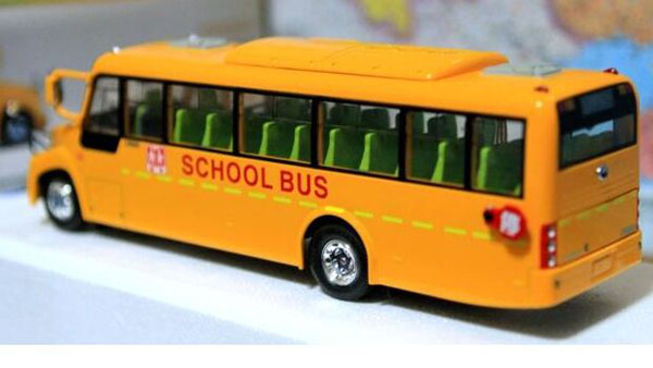 Yellow 1:42 Scale Die-Cast YuTong ZK6100DA School Bus Model