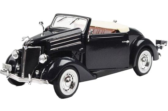 Black 1:24 Scale Welly Diecast 1936 Ford Deluxe Cabriolet Model