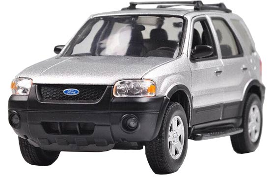 Silver 1:24 Welly Diecast 2005 Ford Escape XLT Sport Model