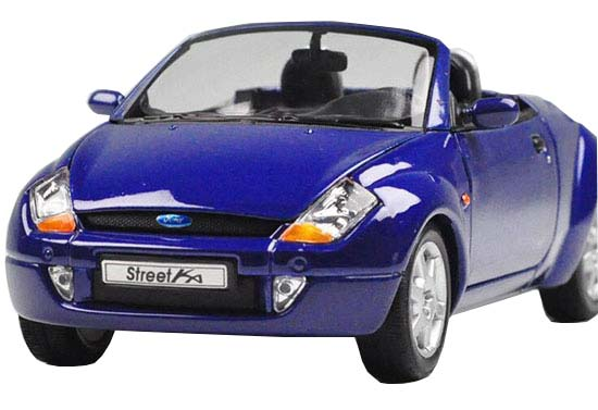 Red / Blue 1:24 Scale Welly Diecast 2003 Ford Street KA Model