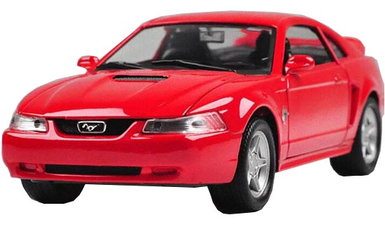 Red /Silver 1:24 Scale Welly Die-Cast 1999 Ford Mustang GT Model