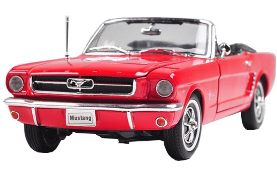 Red /Black 1:18 Scale Welly Diecast 1964 1/2 Ford Mustang Model