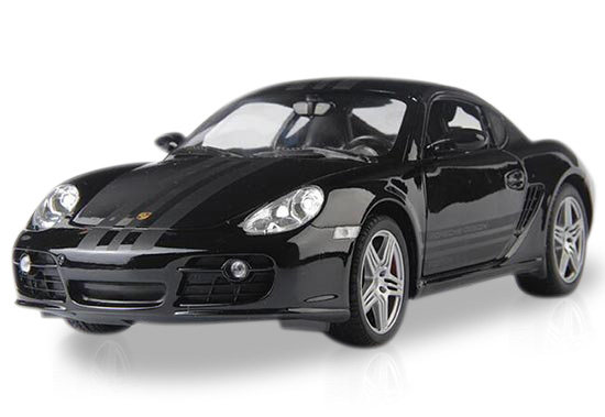 Black / Red / Yellow 1:18 Scale Welly Diecast Porsche Cayman S