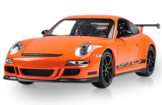 White / Green / Orange 1:18 Welly Diecast Porsche 911 GT3 RS