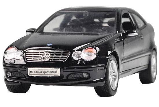 Silver /Black 1:24 Welly Mercedes Benz C-Class Sport Coupe Model