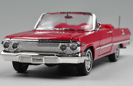 Red /Blue /Black /White 1:24 Welly Diecast 1963 Chevrolet Impala