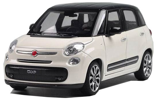 White / Yellow / Red 1:24 Welly Diecast 2013 Fiat 500L Model