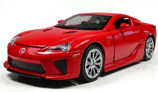 1:28 Red / Black / White / Green / Yellow Diecast Lexus LFA Toy