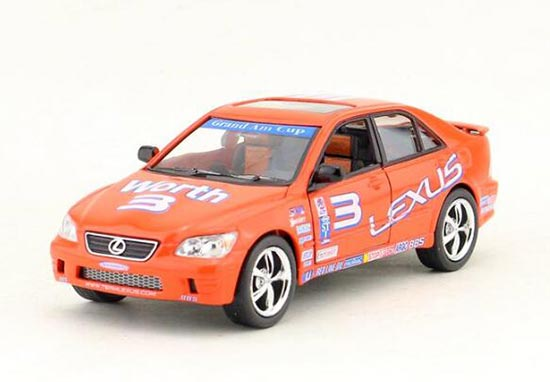 Orange 1:36 Scale Kids NO.3 Die-Cast Lexus IS300 Toy
