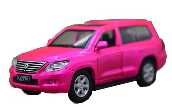 Kids Pink / Blue 1:43 Scale Die-Cast Lexus LX 570 Toy