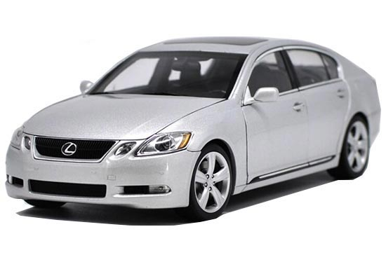 Silver / Black AUTOart 1:18 Scale Diecast Lexus GS430 Model