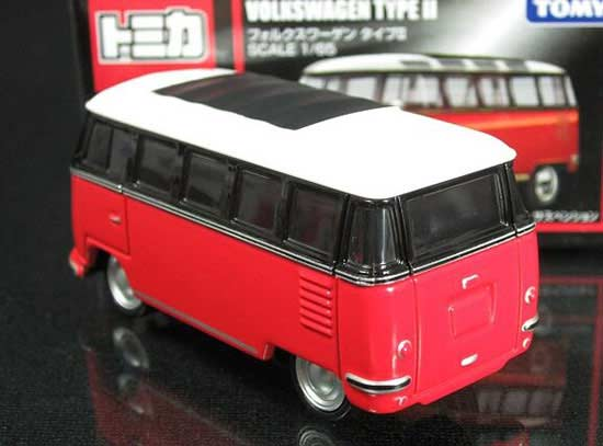 Red-Black 1:65 Mini Scale Kids Die-Cast VW T2 Bus Toy