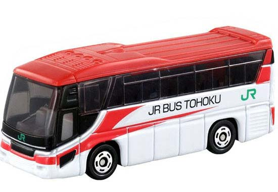 Kids Red-White 1:156 Mini Die-Cast HINO S'ELEGA JR BUS Toy