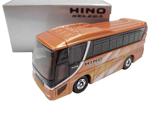 Orange Mini Scale Kids Tomica Die-Cast Hino S'elega Bus Toy