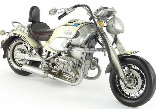White Handmade Medium Scale Tinplate BMW R1200C Model